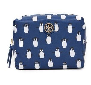 Tory Burch Printed Nylon Brigitte Cosmetic Case - Midnight Swim