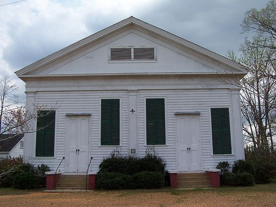 Pre civil war Greek Revival Church -Lowdens County , Al.
