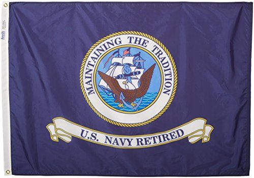 Annin Armed Forces Flag Us Navy Retired 3 By 4 Foot Navy Retired Us Navy Flag Navy Flag