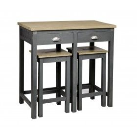 Table bar ou petit bureau d co id es meubles for Table cuisine en pin