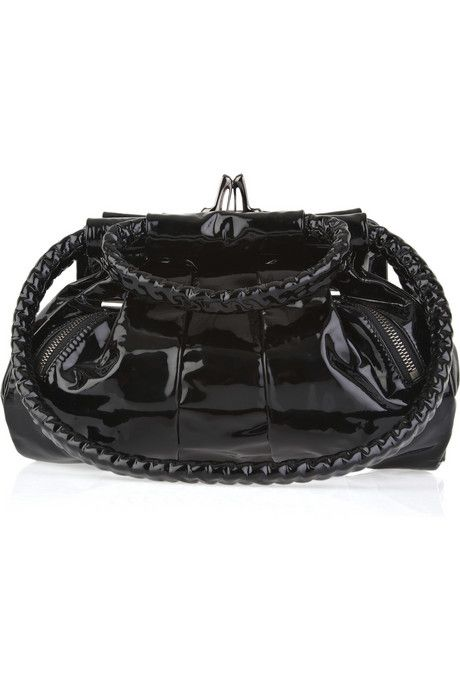 Christian Louboutin Loubette small patent-leather tote