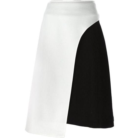 TSUMORI CHISATO Colour Block Asymmetric Skirt ($625) ❤ liked on Polyvore…