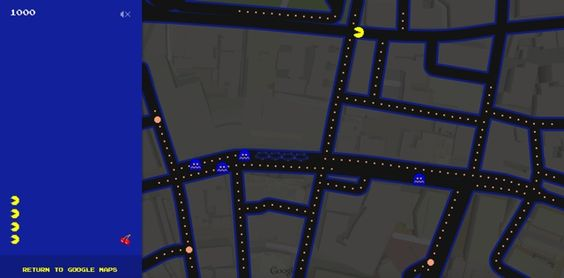 Google is throwing us an early Easter Egg by allowing us to play Pac-Man right inside Google Maps.