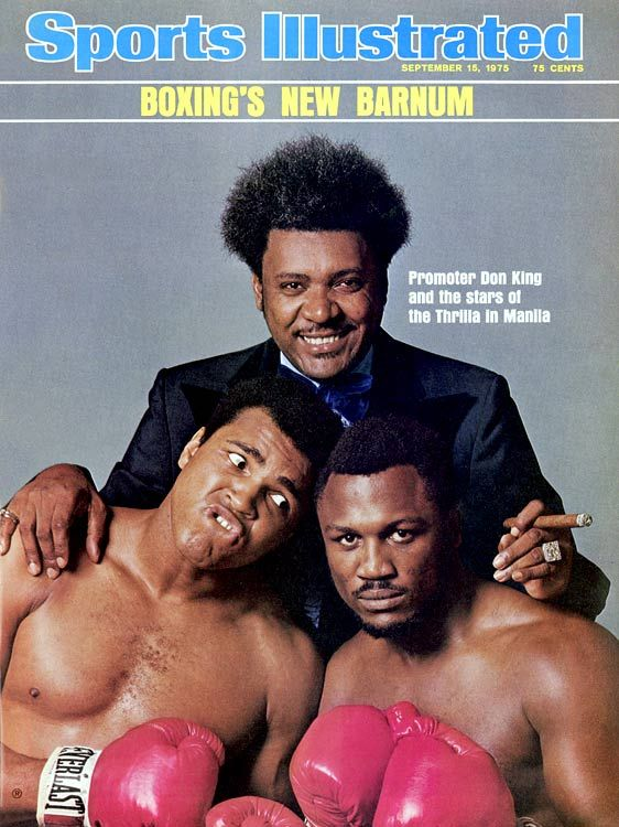 The Thrilla in Manila --   The historic rubber match between Muhammad Ali and Joe Frazier took place in Quezon City on Oct. 1, 1975. President Ferdinand Marcos had campaigned for the fight with the hopes of diverting attention from the ongoing social turmoil in the Philippines. After briefly considering Cairo's Nasser Stadium as a venue, promoter Don King agreed to hold the fight at the 16,500-seat Araneta Coliseum. This cover shot for the Sept. 15 issue of SI was taken on Aug. 25.