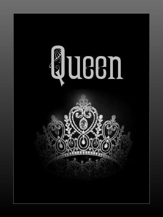 Crown Black Queen Girly Wallpaper