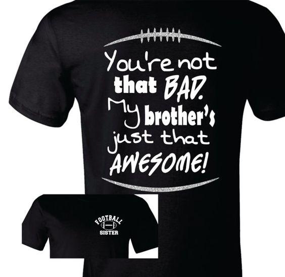 Football Sister Shirt https://www.etsy.com/listing/202595318/football-sister-shirt-football-sister-t