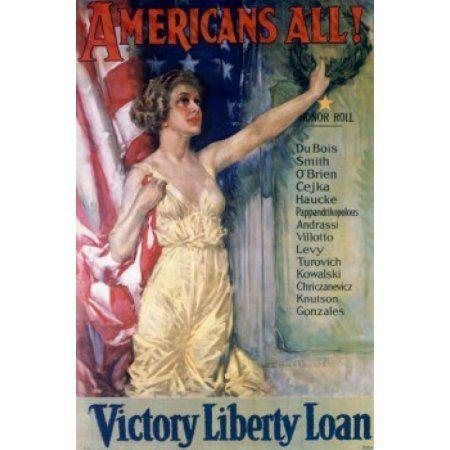 Americans All - Victory Liberty Loan World War I war posters Canvas Art - (24 x 36)