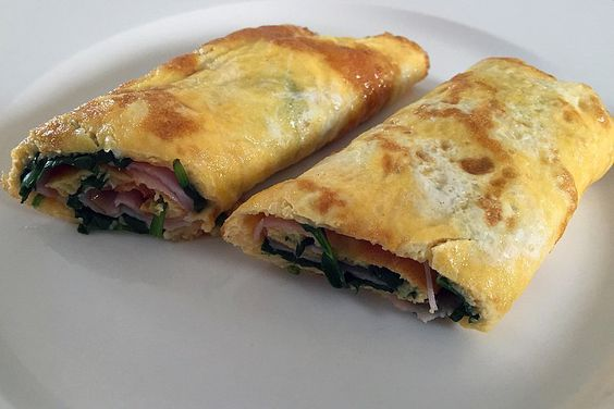 Oh so good! Egg Roll-ups with Ham, Spinach and Cheese  | Insulin Resistance Diet Recipes