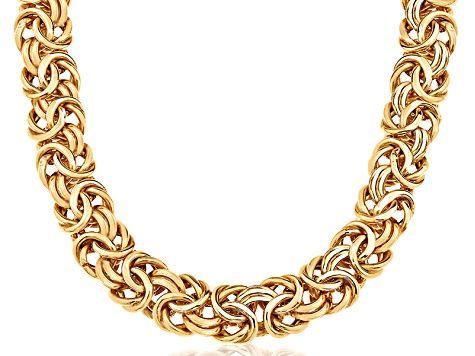 14k Yellow Gold Heavy 18 Thick Byzantine Necklace Bgv330 In 2021 Chain Link Necklace Byzantine Necklace Stunning Jewellery