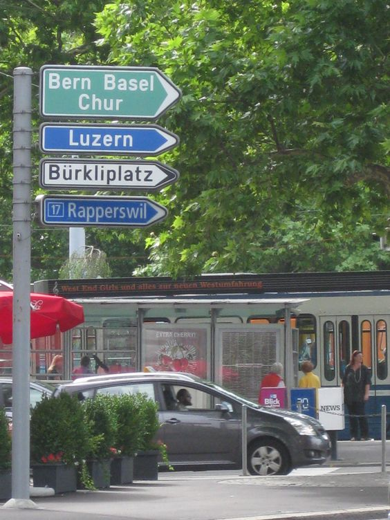 Zurich.We went to Luzern and Rapperswil