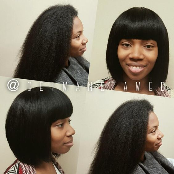 Full sew in with no leave out on long natural hair ...