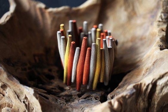 "Bracelet ""Anahme"" issu de la collection Wakanda AH15 Textile et silicone Tzuri Gueta Paris http://www.tzurigueta.com/"