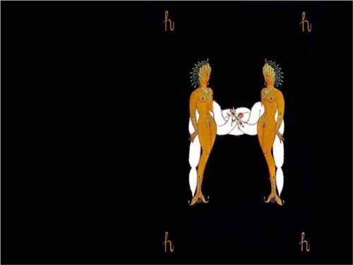 Alphabet H - Erte