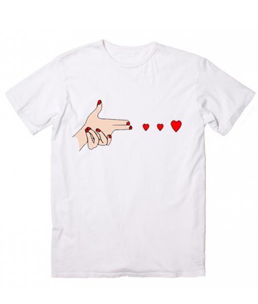 Shoot Love T Shirt Custom Shirt Clothfusion Tees, Quotes T