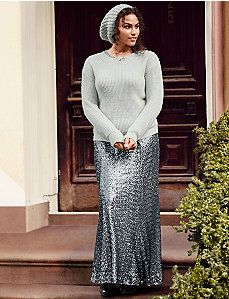 Sequin maxi skirt. *** A must have for any season and occasion! Perfect match for any sweater, tunic, t-short or blouse.