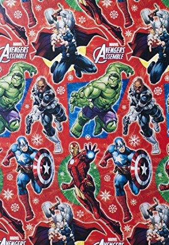 Avengers Assemble Christmas Gift Wrap Wrapping Paper Marvel (1 Roll, 70 Sq. Ft.) Marvel http://www.amazon.com/dp/B00OLDAG4M/ref=cm_sw_r_pi_dp_xrtuub1A6QGSV