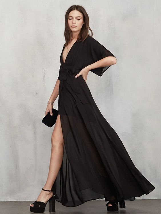 9+Babe-Status+Black+Dresses+From+Reformation+via+@WhoWhatWear