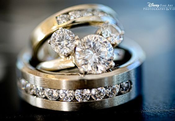 Hidden Mickey Platinum Wedding Ring