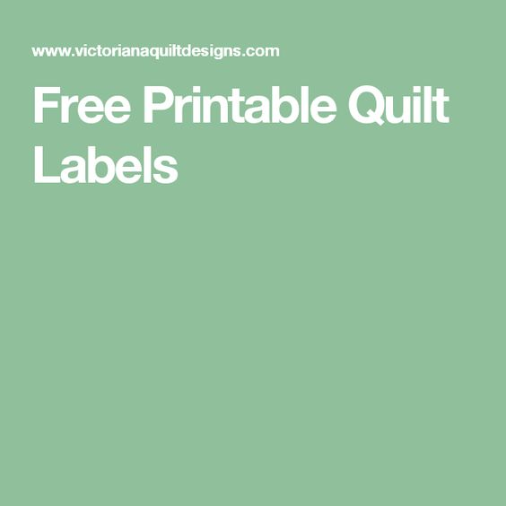 It is a photo of Ridiculous Printable Quilt Labels