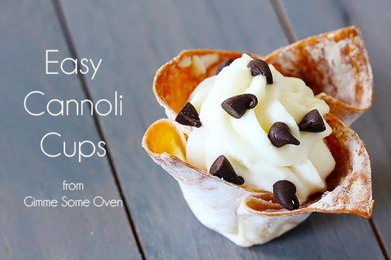 "Cannoli Cups (from ""Gimme Some Oven"")"