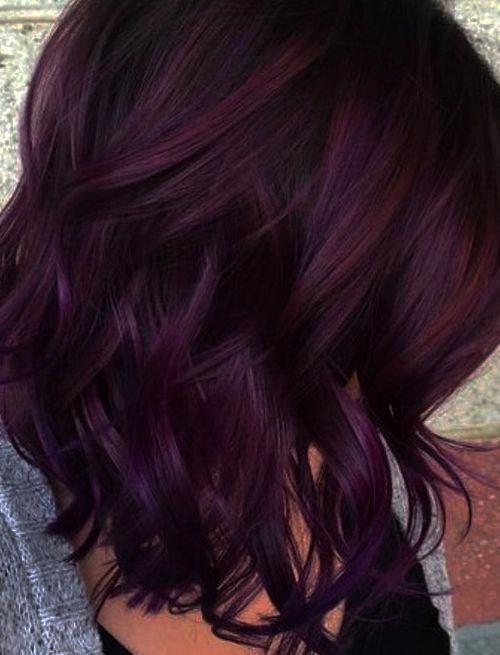 Mane Addicts How To Wear Blackberry Hair Color Trend Mane Addicts Haircolor Blackberry Hair Colour Dark Red Hair Color Hair Color Trends