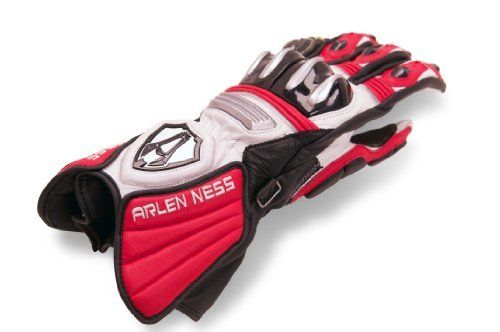 Arlen Ness GP Gloves (Black/Red/White, XX-Large) by Arlen Ness. Save 10 Off!. $152.96. The GP glove offers tremendous feel and control by the use of Kangaroo leather on the palm and fingers. Construction features full grain leather upper and kangaroo palm/fingers. Split-knuckle TPU plastic with magnesium inserts offer superior impact protection and abrasion resistance. Clarino material in palm provides increased feel and wear. Double Velcro wrist enclosure ensures a secure fit.