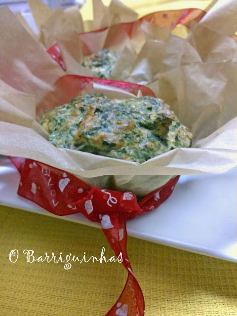 Muffins de Espinafres, Presunto, Queijo e Muito Amor!