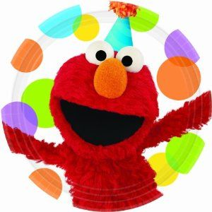 Sesame Street Elmo Party - Dinner Plates Party Accessory by Amscan. Save 9 Off!. $4.62. Sesame Street. Kids' Party Supplies. Package includes (8) paper dinner plates.