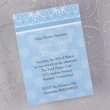Dots of Blue Baby Shower Invitation