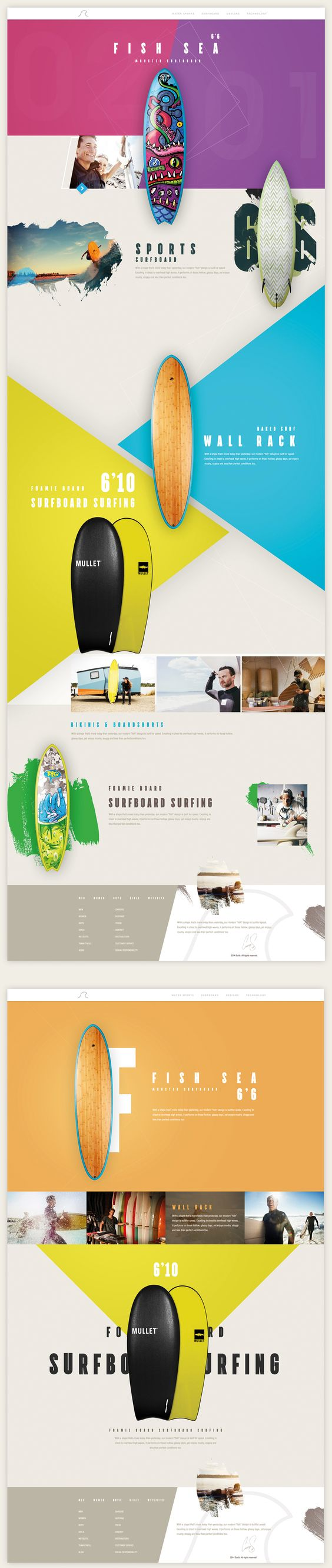 colorful web design inspiration