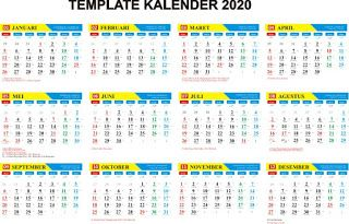 Download Kalender 2020 Indonesia Lengkap Di 2020 Identitas