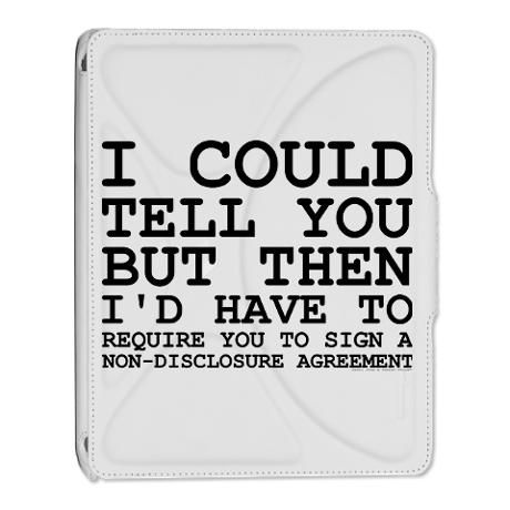 Non-Disclosure Agreement iPad 2 Cover