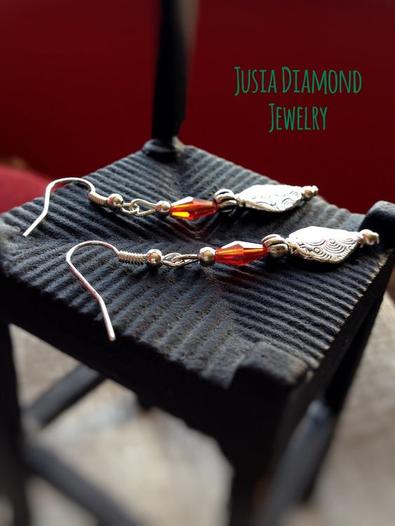 Ancient Swarovski Ruby Earrings, Old  Design Jewellery, Antique Silver Dangles, Unique Treasury by JusiaDiamondJewelry on Etsy https://www.etsy.com/listing/268760273/ancient-swarovski-ruby-earrings-old