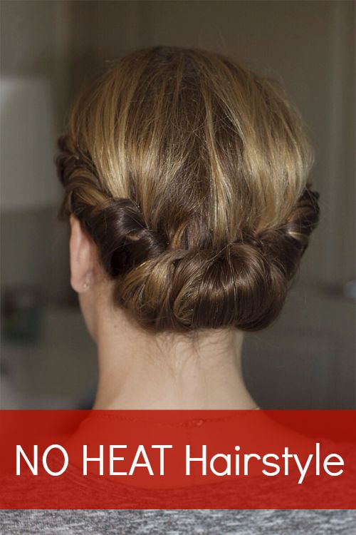 Hairstyles For Short Hair No Heat : Meet Your New No-Heat Hairstyle No Heat Hairstyles, No Heat and ...