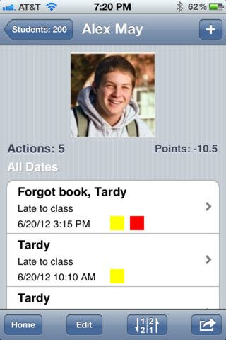 Teacher's Assistant- Keep track of student behavior, attendance, etc. It assigns points for different behaviors, which you can customize. You can even email their parents a weekly report if you would like.: Teacher Assistant, Teachers Assistant, Teacher S Assistant, Teaching App, Classroom Behavior, Teaching Classroom, Ipad App, Behavior App