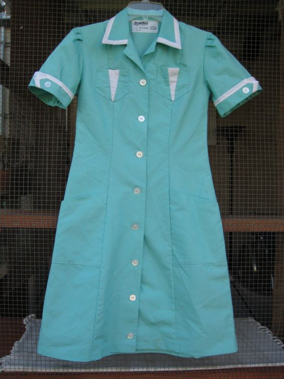 twin peaks diner dress on etsy (sold)  http://www.etsy.com/listing/31063167/vintage-turquoise-waitress-uniform-dress