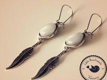 Ohrringe ❃ Silberne Feder ❃