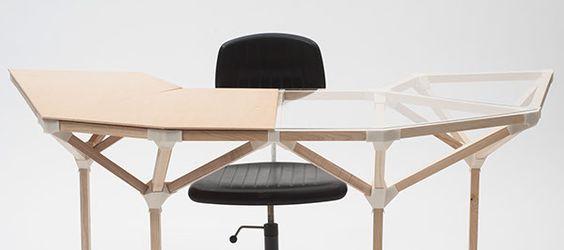 ergonomically optimized workspace on Behance