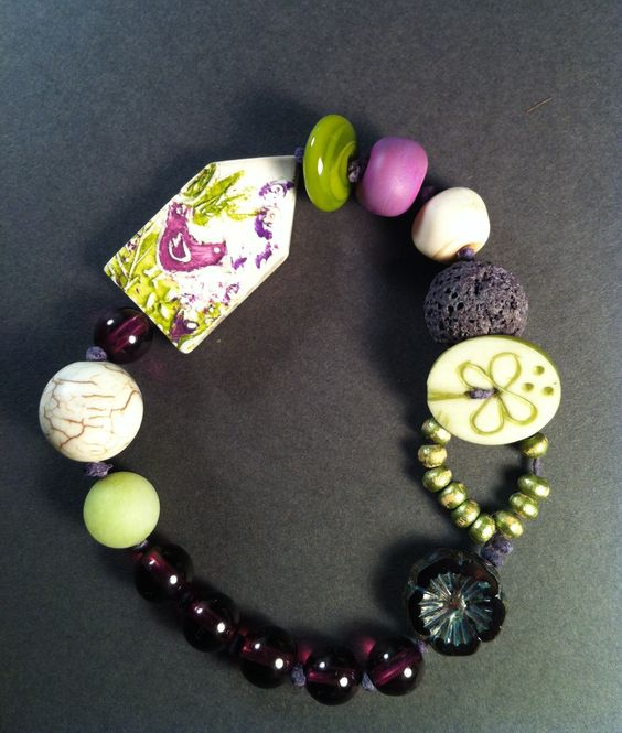 Humblebeads bird house bead....bracelet by nanmade jewelry