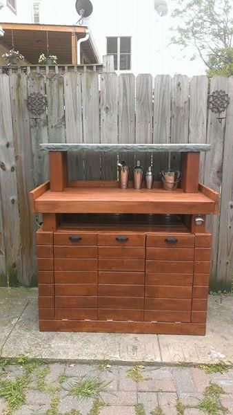 Do It Yourself Home Design: Outdoor Bar With Tilt Out Storage