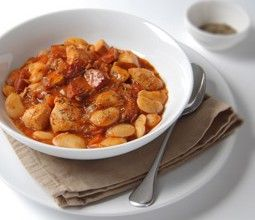Spanish-style chicken and chorizo stew with butter beans and tomato and enhanced with a subtle chilli kick.