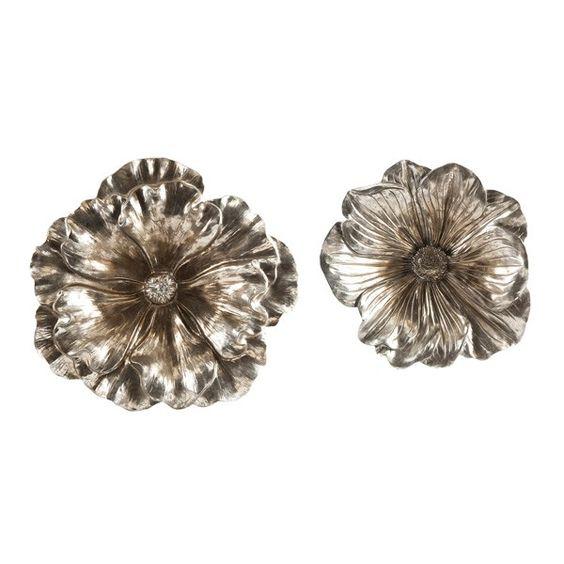 Natalia Stick Silver Flowers, Set Of 2 ~ $119.99 At Todayspatio.com