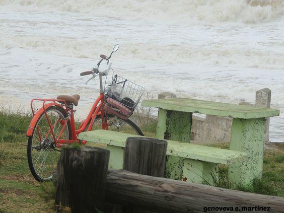 balneario CUCHILLA ALTA . la playa despues de una gran tormenta . ENERO 2014