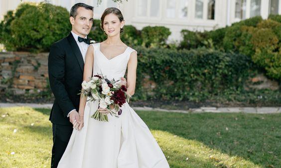 Mr. & Mrs. Becker - The Carolina Herrera Bride