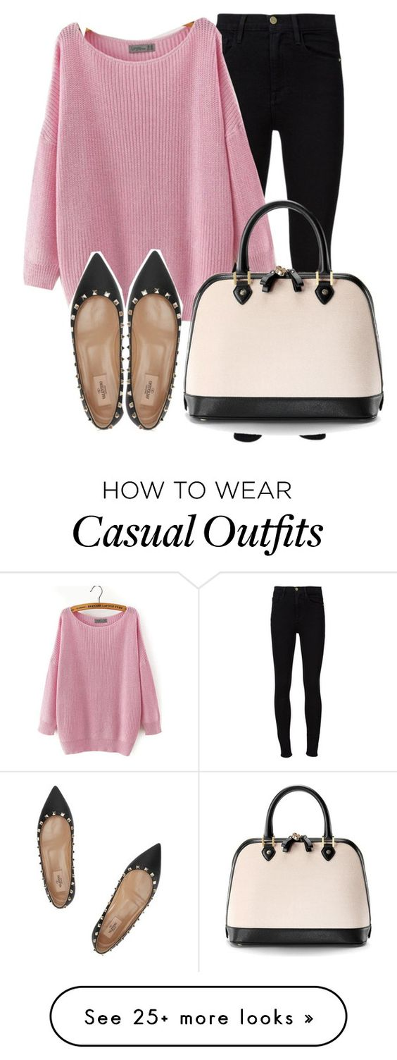 """""""Casual Wednesday"""" by reishelalynna on Polyvore featuring Frame Denim, Valentino and Aspinal of London"""