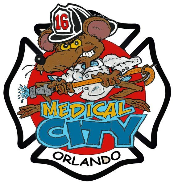 Orlando Fire Department Station 16 Fire Badge Fire Dept Logo