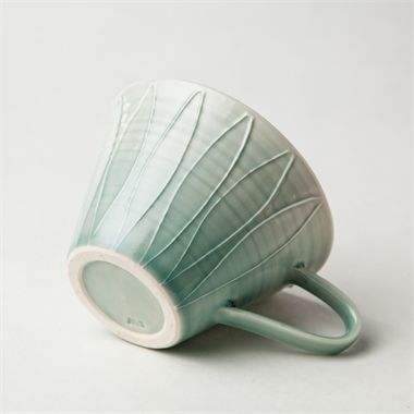 Hand thrown Petal Teacup. Sarah Went Ceramics