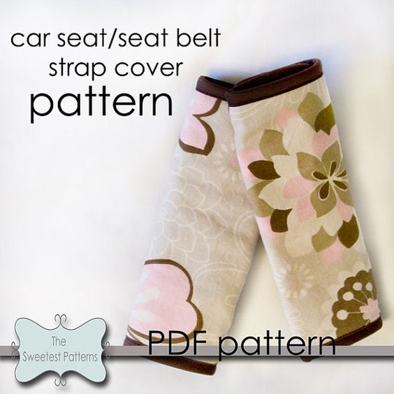 Car Seat And Seat Belt Strap Covers Sewing Pinterest