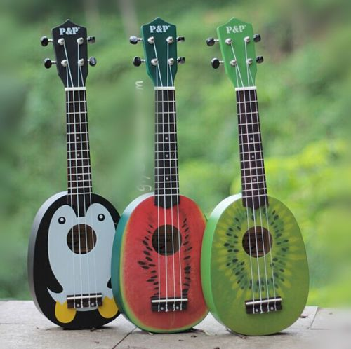 Cartoon-Soprano-Ukulele-Small-Guitar-Pineapple-Ukulele-for-Beginners-Kids