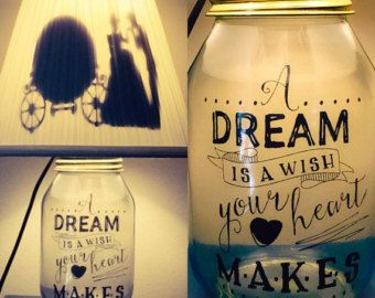 Beauty and The Beast Inspired Mason Jar by PracPerfCrafts on Etsy